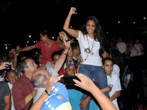 La activista universitaria Ligia Delfín es liberada el pasado 28 de marzo. Disfruta de su libertad tras una campaña de presión internacional.