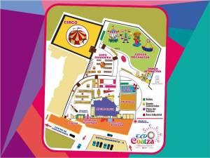 Mapa de la Expoferia Coatza 2014
