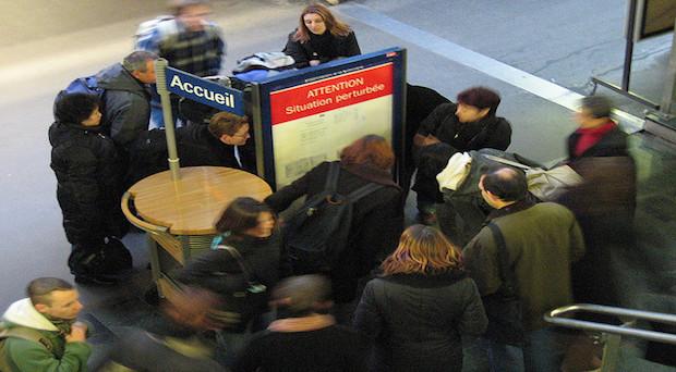 Huelga Ferrocarriles SNCF