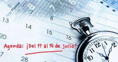 Agenda del 11 al 14 julio Costa Azul