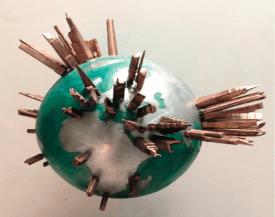 La Bomba del Mundo. Bronce y aluminio. 2014