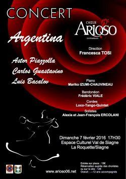 Concierto coral Argentina Siagne