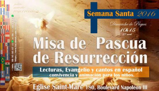 Misa de Pascua 2016 Niza