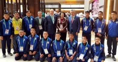 El Príncipe Alberto en los Juegos Olímpicos de la Juventud en Buenos Aires