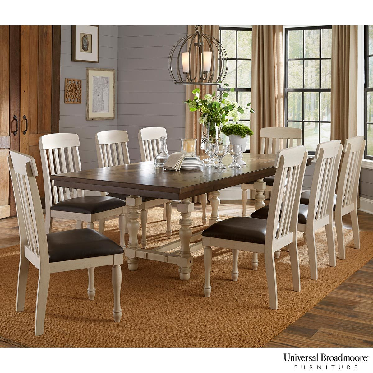 Dining Table 8 Chairs Universal Broadmoore Extending Dining Room Table 8 Chairs Costco Uk