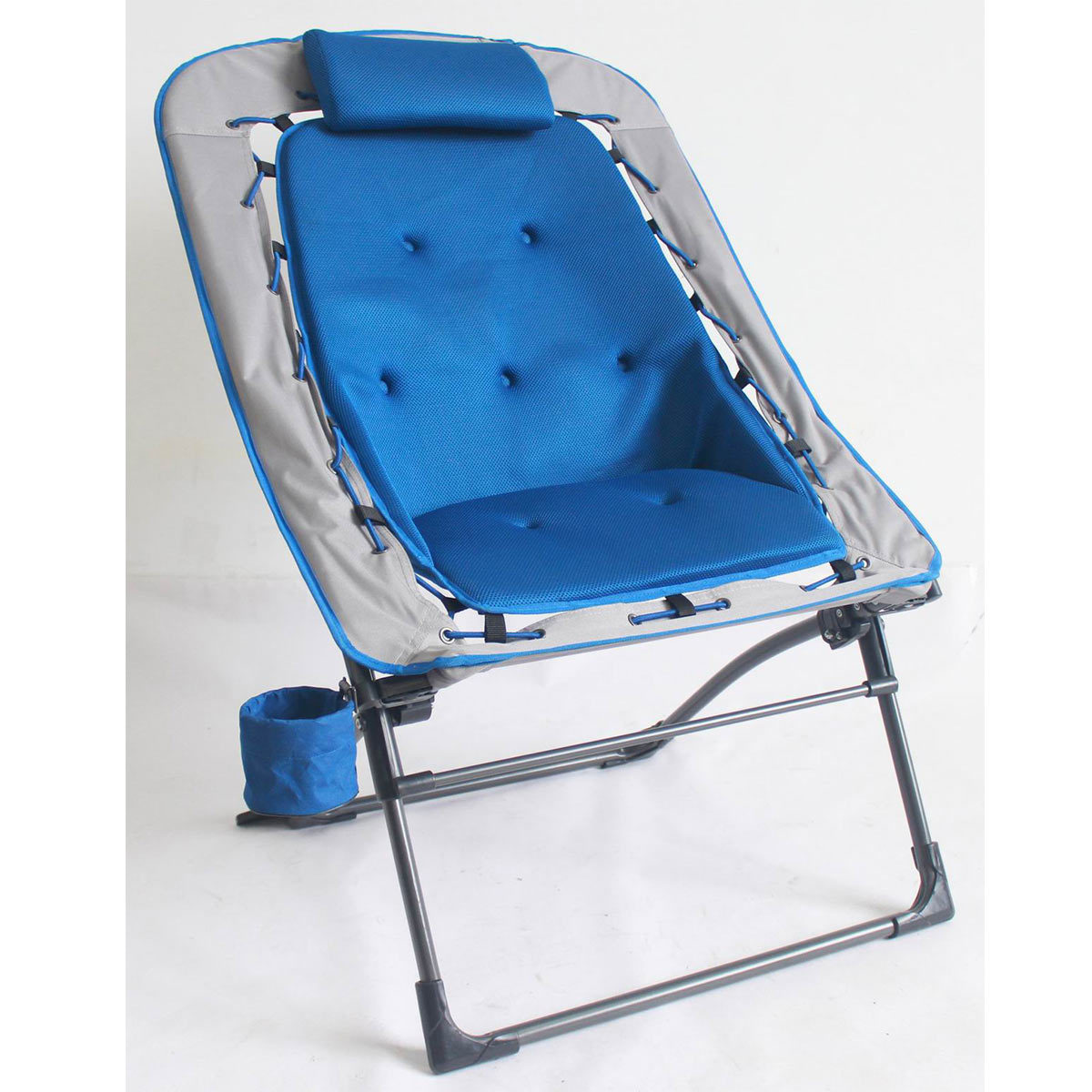 Stretcher Chair Foldable Rectangular Air Mesh Outdoor Bungee Chair Costco Uk