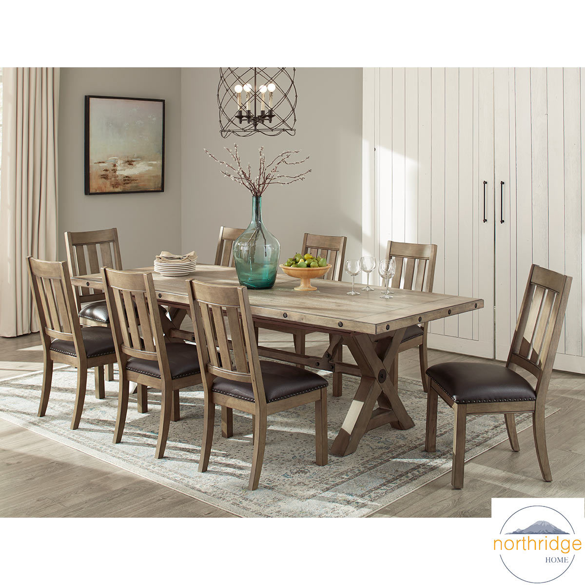 Dining Table 8 Chairs Northridge Home Booker Extending Dining Room Table 8 Chairs Costco Uk