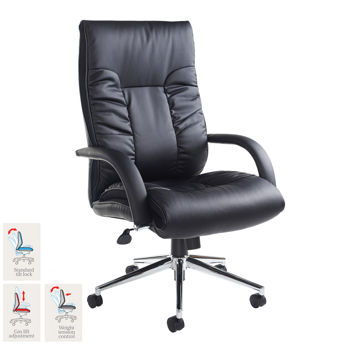 Costco Office Chairs In Store Derby Leather Faced Executive Chair In Black Costco Uk