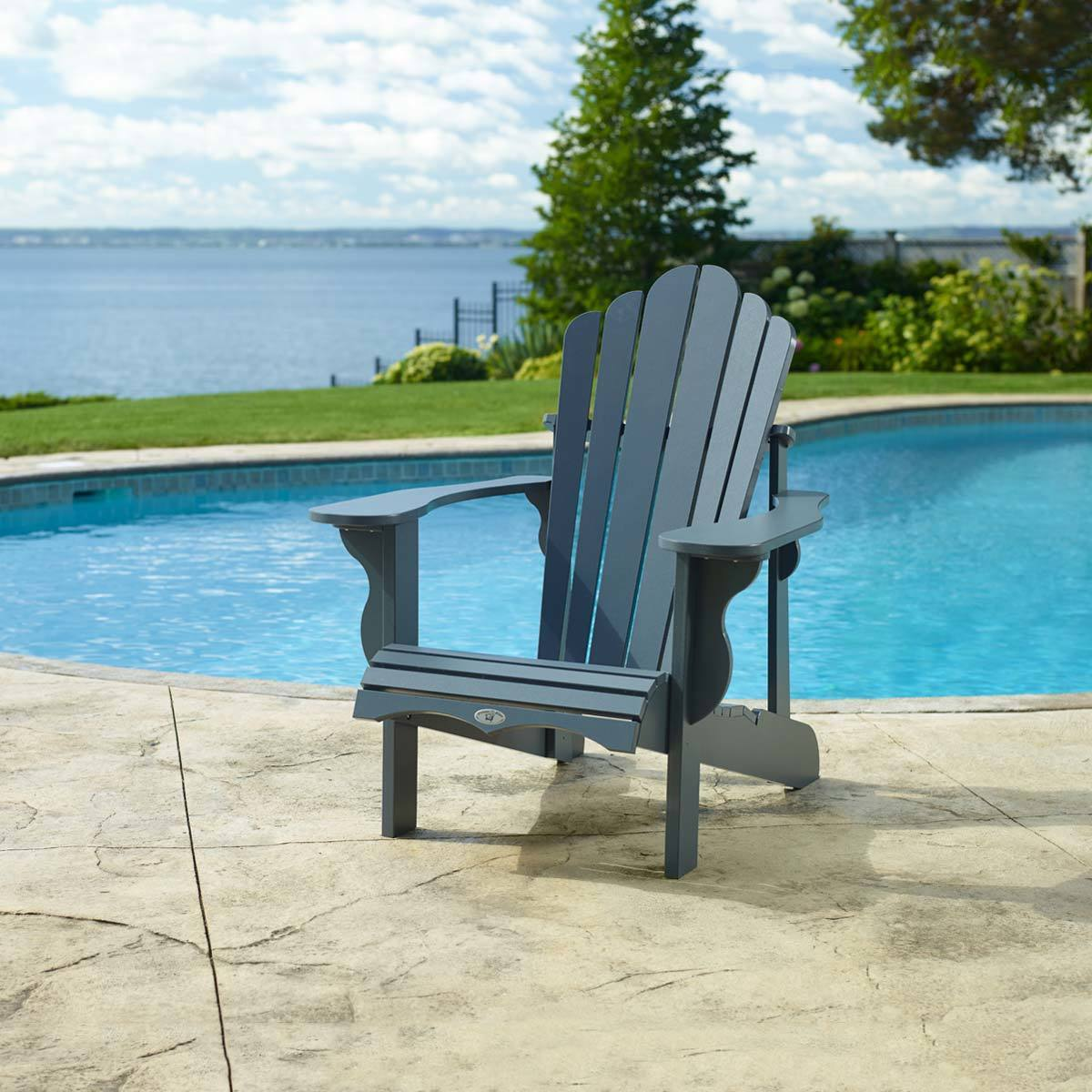 Costco Adirondack Chairs Leisure Line Adirondack Chair In Grey