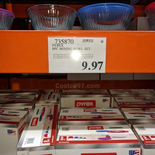 Pyrex 8-piece Glass Mixing Bowl Set | Costco97.com