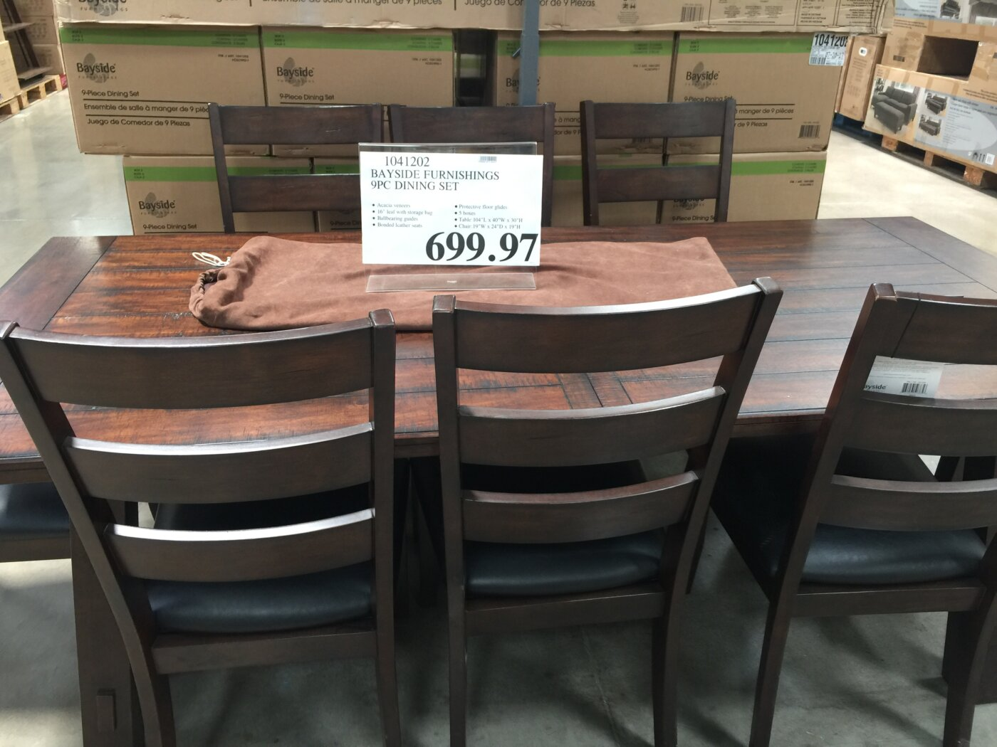 Bayside Furnishings 9pc Dining Set | Costco97.com