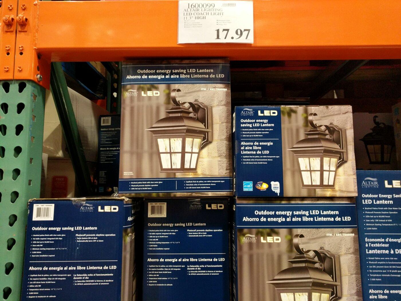 altair lighting led coach light