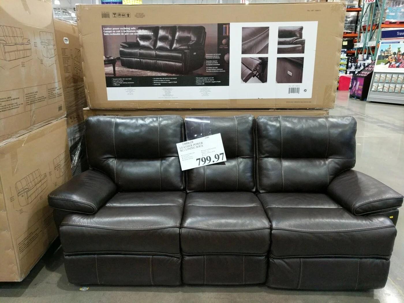 leather power reclining sofa costco97 com