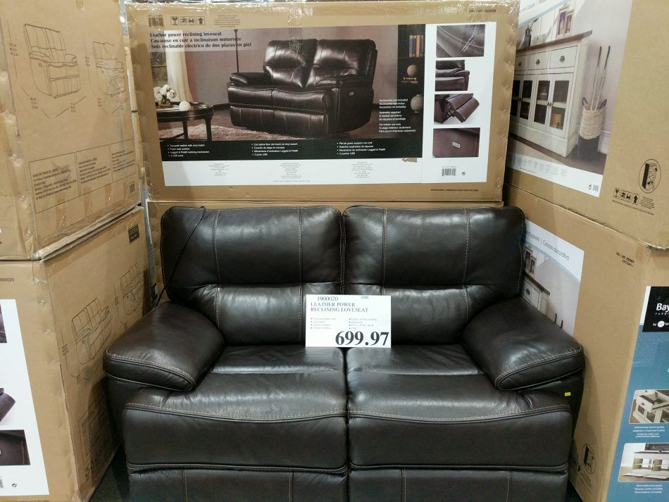 leather power reclining loveseat