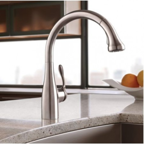 single lever kitchen faucet industrial tables hansgrohe allegro e gourmet high-arc