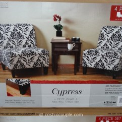 2 Accent Chairs And Table Set Recliner Chair Covers With Pockets Australia Ave Six Cypress