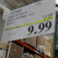 Costco Kitchen Sink Small Pantry Ideas Apache Mills Comfort Mate Chef's Mat