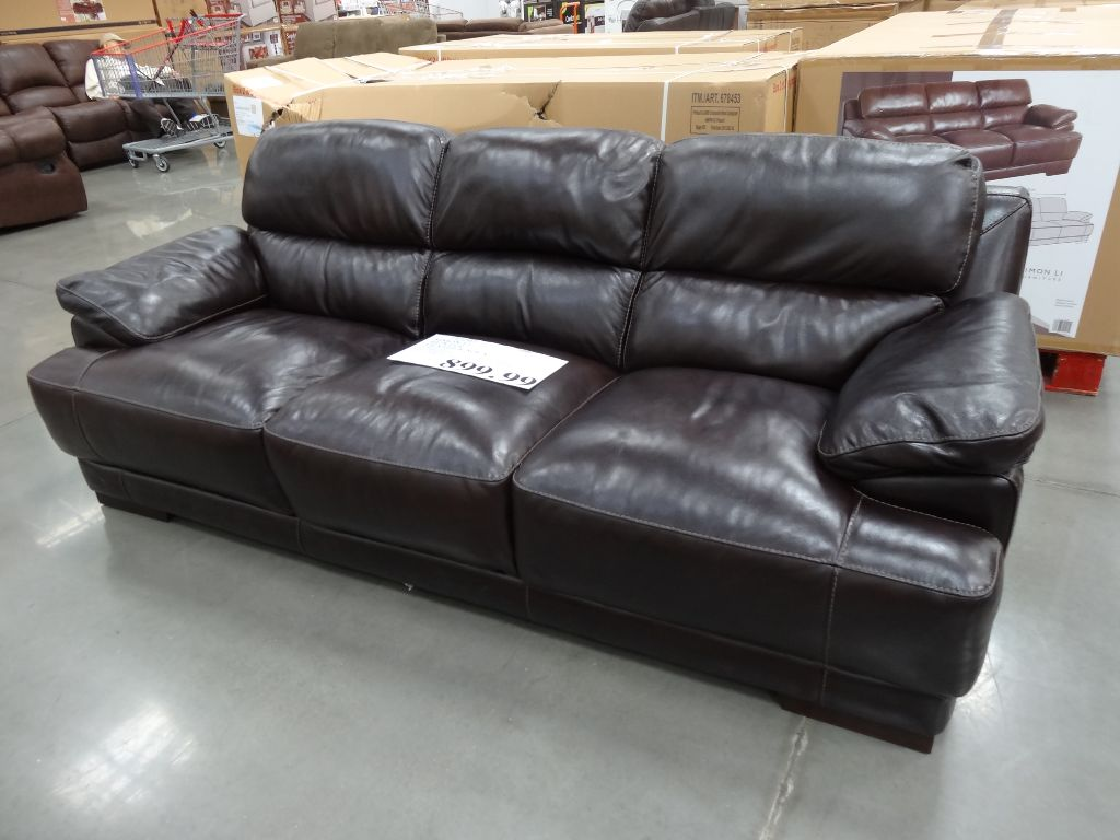costco leather chairs french cafe target simon li hunter sofa