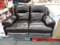 Spectra McKinley Leather Power Motion Loveseat