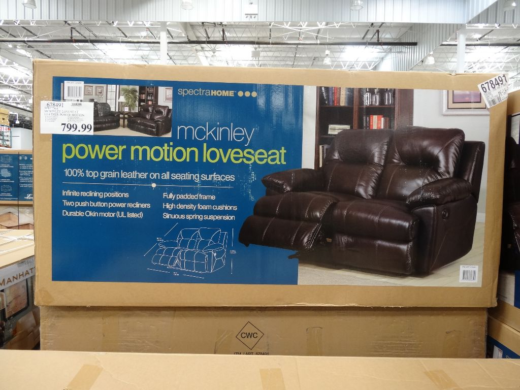mckinley leather sofa costco live soccer scores spectra power motion loveseat