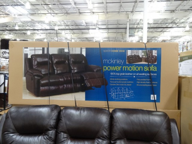 mckinley leather sofa costco what colour goes with purple walls spectra power motion