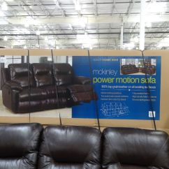 Mckinley Leather Sofa Costco Chenille Throw Blankets For Spectra Power Motion