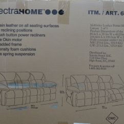Mckinley Leather Sofa Costco J Rv Spectra Power Motion