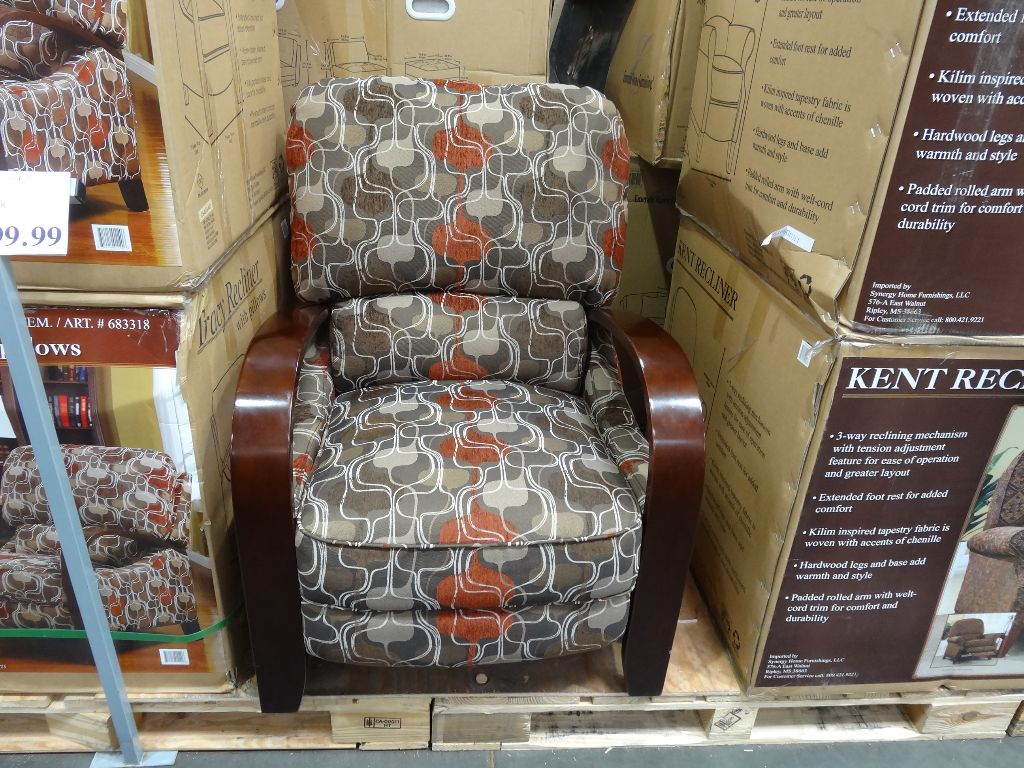 Costco Recliner Chair Synergy Tracy Fabric Recliner