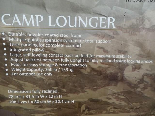 Timber Ridge Camp Lounger