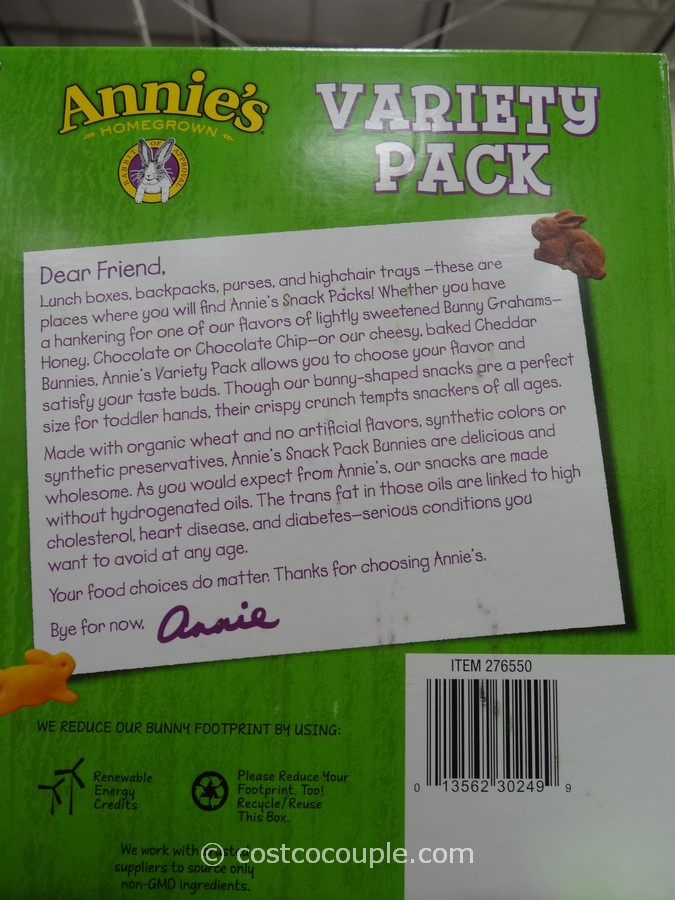 Annies Organic Variety Pack