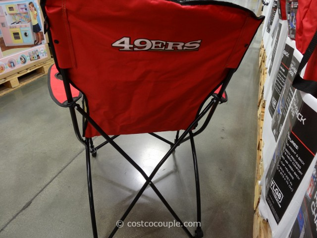 49ers camping chair folding chairs wooden jarden high back costco 4