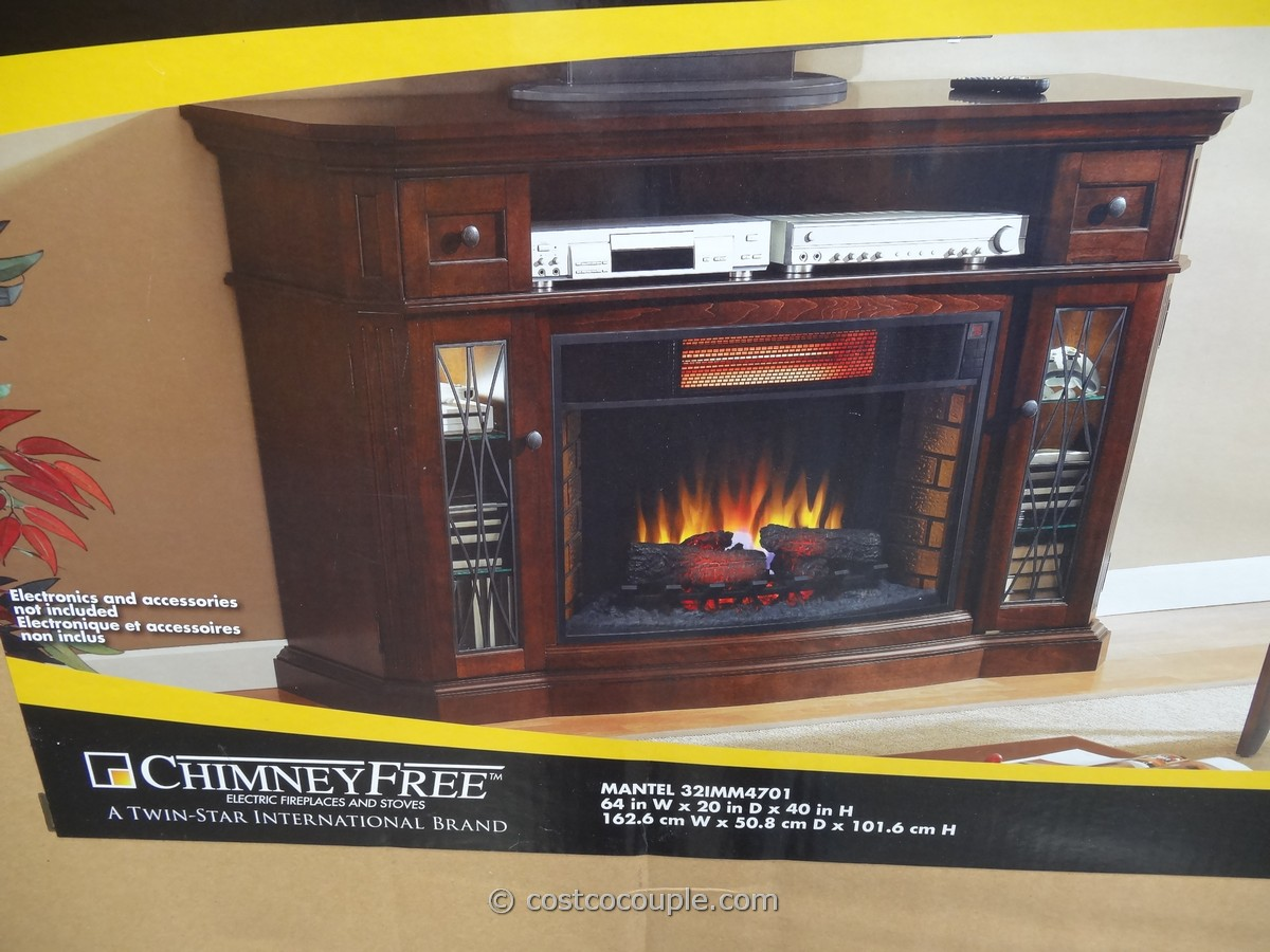 Tempered Glass Fireplace Media Mantel Infrared Fireplace