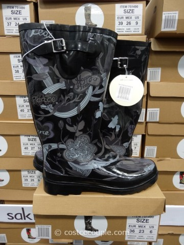 The Sak Ladies Fur Lined Rain Boots
