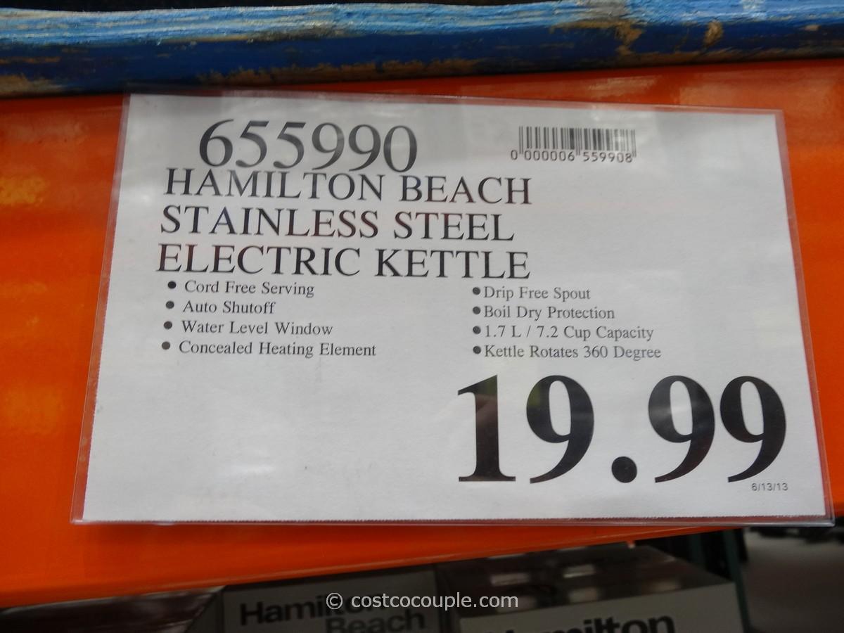 Hamilton Beach Stainless Steel Electric Kettle