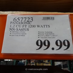 Kitchen Aid Costco Cart White Panasonic 1.2 Cu Ft Stainless Steel Inverter Microwave Oven