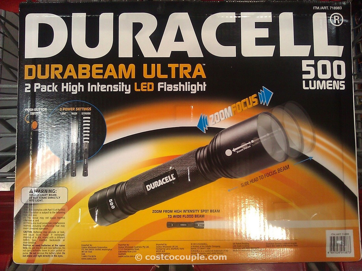 Duracell LED Tactical Flashlight 2 Pack