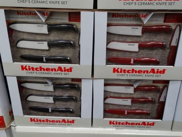 KitchenAid 4Piece Ceramic Knife Set With Sheaths
