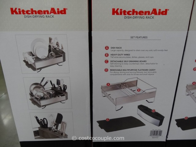 kitchen aid knives country dining tables kitchenaid stainless steel dish-drying rack