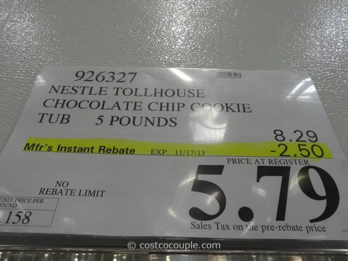 Nestle Tollhouse Chocolate Chip Cookie Tub