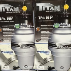 Kitchen Sink Disposal Cabinets Titan Food Waste Disposer