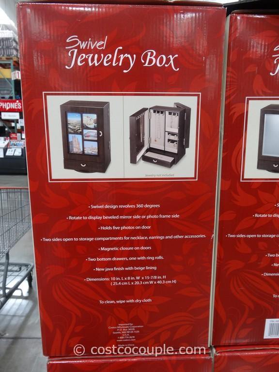 Wooden Swivel Jewelry Box