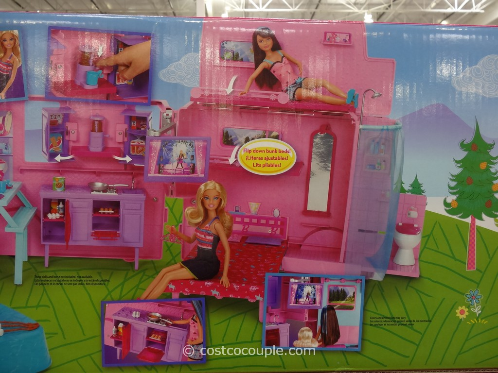 fire pit table and chairs costco swivel chair bunnings mattel barbie sisters rv