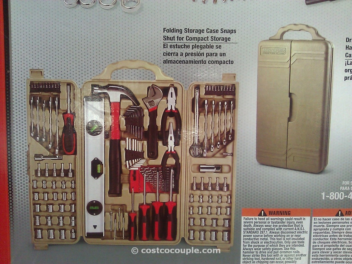 MasterGrip 127 Piece Homeowners Tool Kit