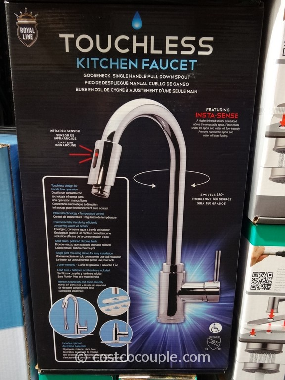 no touch kitchen faucet built in table royal line touchless chrome