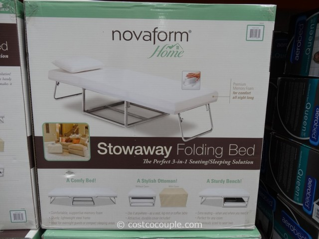 folding chair mattress foam office warmer novaform stowaway bed