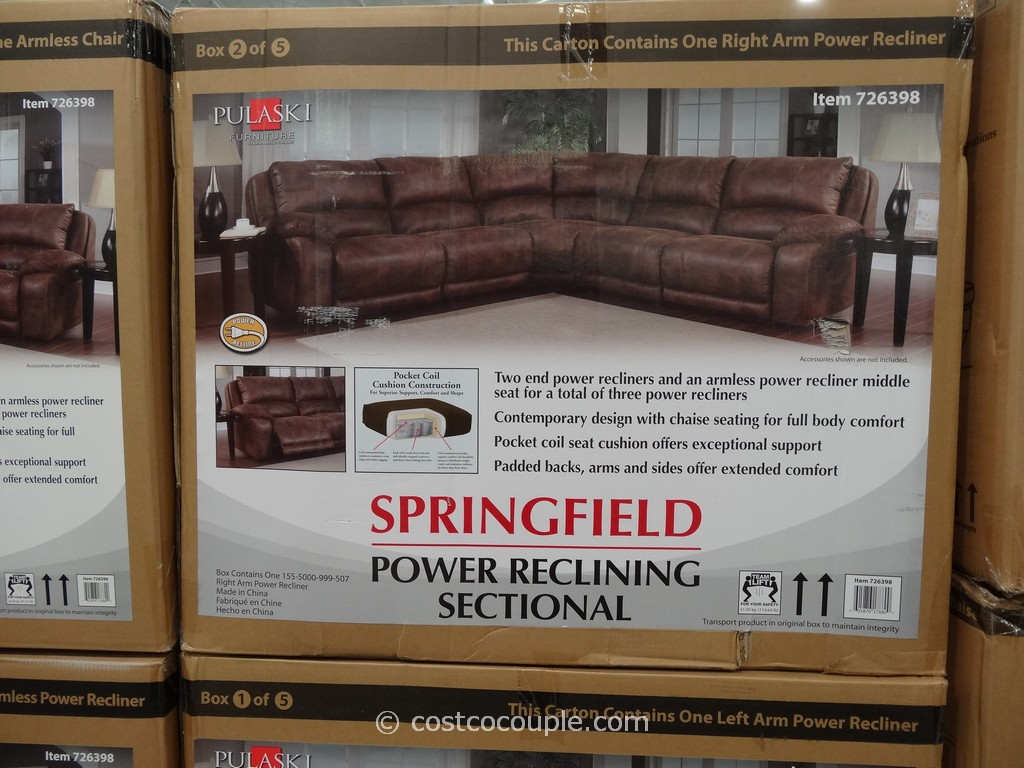 mckinley leather sofa costco simply sofas direct pulaski springfield power reclining sectional. ...