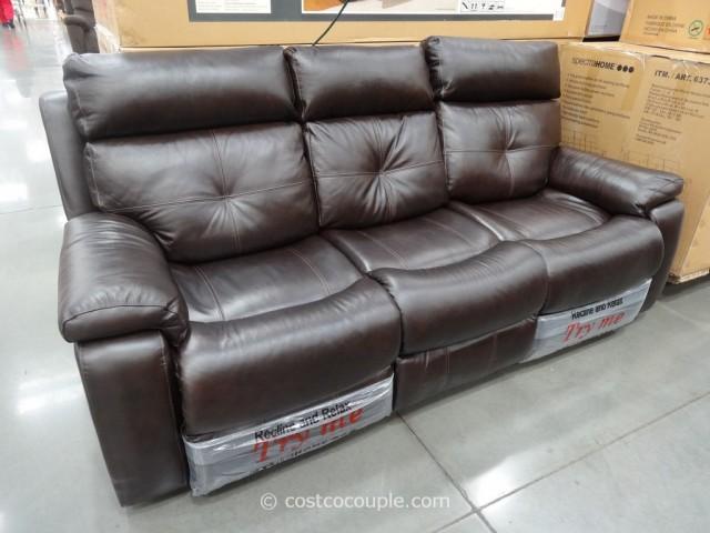 Spectra Matterhorn Leather Power Motion Sofa