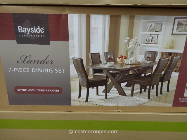 Bayside Furnishings Xander 7 Piece Dining Set