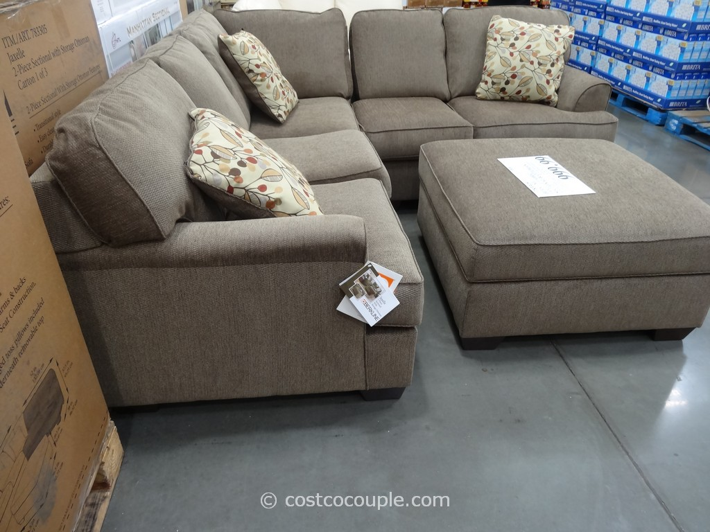 mckinley leather sofa costco cream corner gumtree berkline jaxelle fabric sectional and ottoman