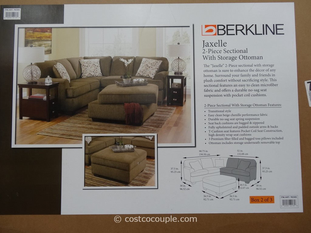mckinley leather sofa costco single seater futon bed berkline jaxelle fabric sectional and ottoman